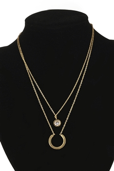 Geometry Multilayer Chains Necklace N3886