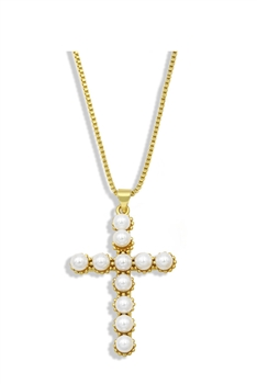 Cross Zircon Copper Chain Necklace N3903