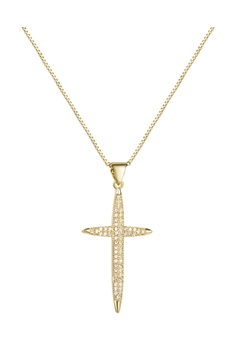 Cross Zircon Chain Necklace N3905