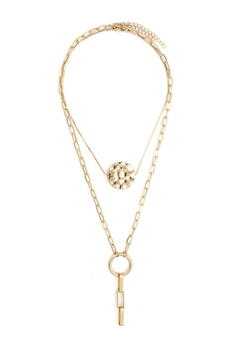 Geometry Multilayer Chain Necklace N3908