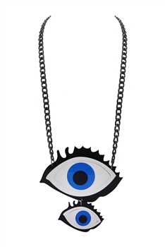 Evil Eye Acrylic Chain Necklace N3911