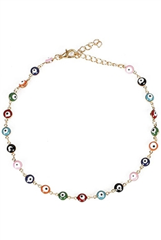Evil Eye Chain Necklace N3963