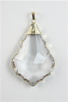 Clear Gemstone Crystal Necklace Pendant P0061