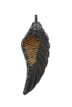 Special Ox Horn Bones Wing Necklace Pendants P0141