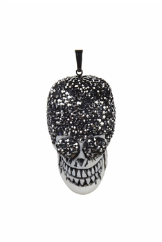 New Punk Style Crystal Skull Head Necklace Pendants P0146