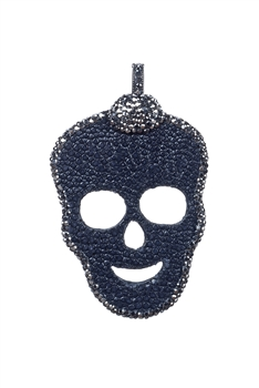 Skull Crystal Genuine Stinggray Skin Pendants P0203