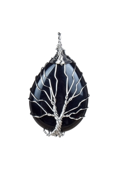 Tree Of Life Pendant P0215 - Black