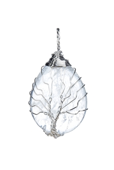 Tree Of Life Pendant P0215 - Clear