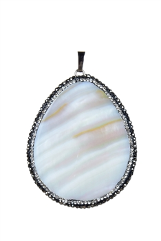 Teardrop Mother of Pearl Pendants P0221