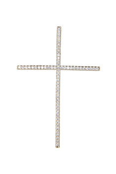 Cross Zircon Metal Pendants P0336
