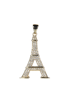Eiffel Tower Crystal Metal Pendant P0341