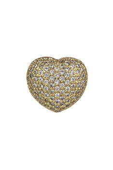 Heart Zircon Pendants P0403 - Gold