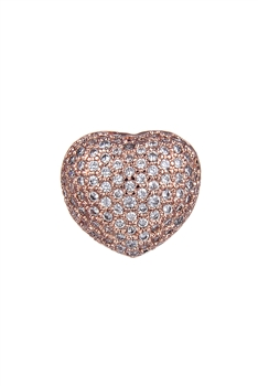 Heart Zircon Pendants P0403 - Rose Gold