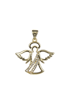 Angel Wings Pendant P0411 - Gold