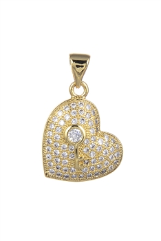 Heart Zircon Pendants P0412