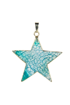 Star Shaped Agate Pendant P0426