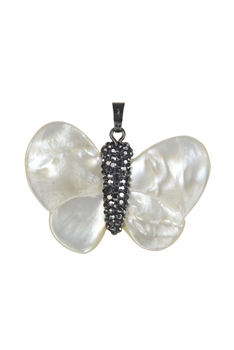 Butterfly Freshwater Pearl Pendant P0438