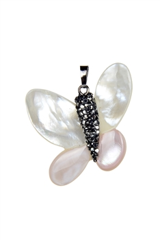 Butterfly Shaped Crystal Shell Mother of Pearl P0441