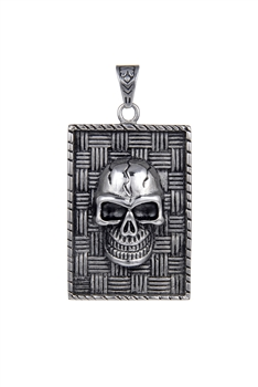 Stainless Steel Skull Square Casting Pendants P0477
