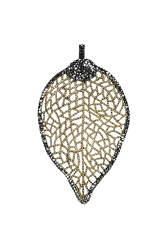 Real Leaf Pendant-P0484 - Gold