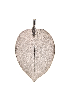 Fashion Real Natural Filigree Leaf Shaped Pendants P0488 - Rose Gold