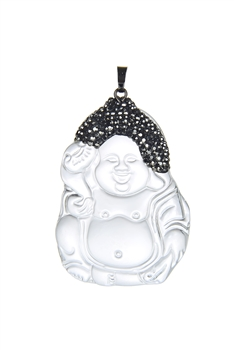 Buddha Smiley Gypsum Pendants P0518