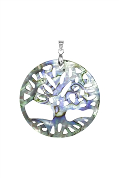 Tree Of Life Mother of Pearl Pendant P0521