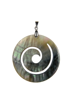 Natural Round Shell Pendants P0522