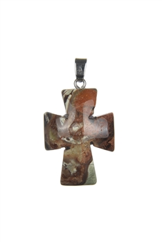 The Cross Agate Pendant P0536