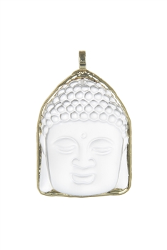 Golden Plated Gypsum Buddha Pendant P0550