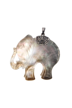 Elephant Shape Mother of Pearl Pendants P0594