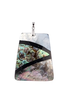 Rectangle Mother of Pearl Pendant P0598