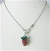 Strawberry Crystal Necklaces P1441