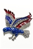 America Eagle Crystal Brooches PA3079