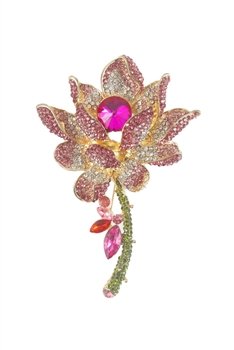 Floral Crystal Brooche