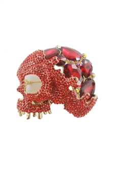Crystal Accent Skull Brooch PA3133