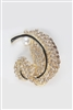 Pearl Dotted Crystal Feather Brooch PA3140