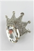 Crystal Accent Crown Brooch PA3141