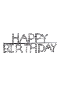 Happy Birthday Crystal Brooch PA3147