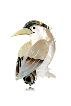 Bird Mother Of Pearl Brooch PA3580