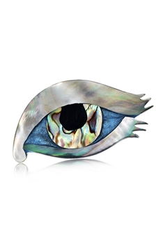 Evil Eye Mother Of Pearl Brooch PA3593