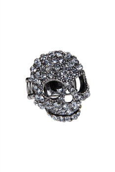 Crystal Accent Skull Ring R1014