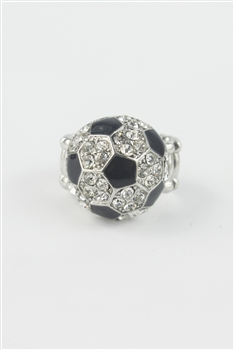 Rhinestone Football  Soccer Rings R1111