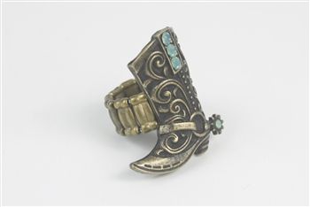 Crystal Metal Boot Rings R1209 - Copper