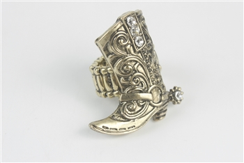 Crystal Metal Boot Rings R1209 - Gold