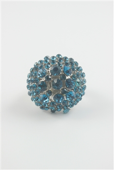 Ball Rhinestone Stretch Rings R1214