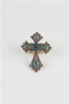 Crystal Crucifix Rings R1224