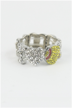 Heart Shaped  Rhinestone Rings R1242