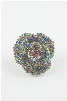 Rose Rhinestone Rings R1244