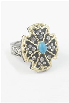 Shield Cross Rings R1282